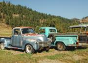 Trucks Prints - Old Timers Print by Donna Blackhall