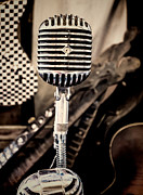 Jeffery Johnson Prints - Old Timey Microphone Print by Photo Captures by Jeffery