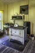 Wooden Paneling Prints - Old Timey Stove Print by Lynn Palmer