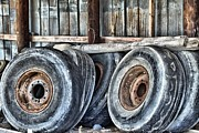 Carolyn Ricks Metal Prints - Old Tires Metal Print by Carolyn Ricks