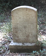 Old Tombstone  Print by Cathy Lindsey