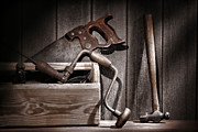 Carpentry Prints - Old Tools Print by Olivier Le Queinec