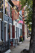U.s.a. Flag Photos - Old Town Alexandria by John Greim