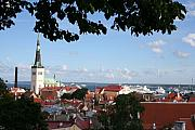 Habor Prints - Old Town And Harbor - Tallinn Print by Christiane Schulze