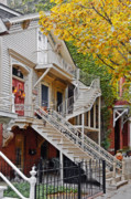 Fall Photographs Prints - Old Town Chicago Living Print by Christine Till