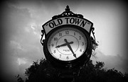 Old Town Clock Print by Laurie Perry