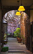 Entrance Door Digital Art Posters - Old Town Courtyard In Victoria British Columbia Poster by Ben and Raisa Gertsberg