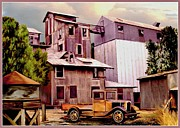 Country Store Digital Art Framed Prints - Old Town Granary Framed Print by Ronald Chambers