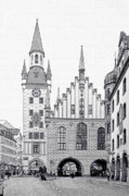 Unique View Prints - Old Town Hall - Munich - Germany Print by Christine Till