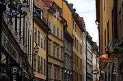 Cobblestone Prints - Old Town in Stockholm Sweden Print by Micah May
