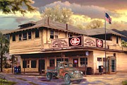 Old Town Irvine Country Store Print by Ronald Chambers