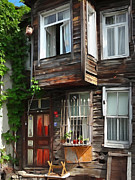 Old House Mixed Media - Old Town Istanbul by Lutz Baar