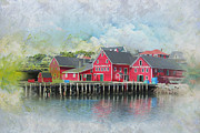 Glacier National Park Paintings - Old Town Lunenberg by Catf