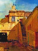 Morocco Prints - Old Town Print by Lutz Baar