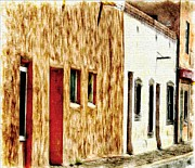 Judge Roy Bean Prints - Old Town New Mexico Print by Barbara Chichester