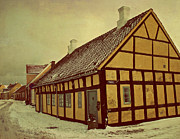 Jylland Prints - Old Town Print by Odd Jeppesen