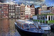 Old Town Of Amsterdam In Netherlands Print by Artur Bogacki