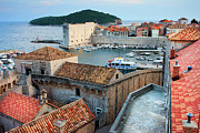 Tiled Prints - Old Town of Dubrovnik Print by Artur Bogacki
