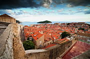 Tiled Framed Prints - Old Town of Dubrovnik in Croatia Framed Print by Artur Bogacki