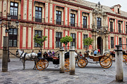 Carriages Posters - Old Town of Seville in Spain Poster by Artur Bogacki