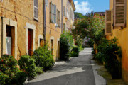 Urban Scenes Prints - Old town of Valbonne France  Print by Christine Till