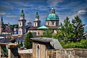 Salzburg Prints - Old Town Salzburg Austria in HDR Print by Sabine Jacobs