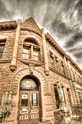 Fort Collins Digital Art Metal Prints - Old Town Sandstone Metal Print by JulieannaD Photography