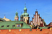 Rooftop Photos - Old Town Skyline in Warsaw by Artur Bogacki