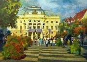 Old Town Square Print by Jeff Kolker