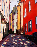 City Street Paintings - Old Town Stockholm by Marianne Beukema