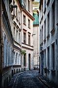 Stylized Art - Old Town street by Gynt