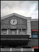 Old Town Digital Art Framed Prints - Old Town Temecula - The Clock Framed Print by Glenn McCarthy Art and Photography