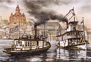 Maritime Greeting Card Posters - Old Town Waterfront Poster by James Williamson