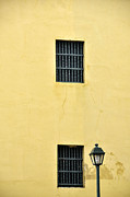 Window Bars Prints - Old Town Windows Print by Birgit Tyrrell