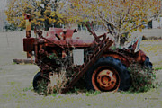 Amanda Collins Framed Prints - Old Tractor Framed Print by Amanda Collins