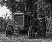 Western Ky Framed Prints - Old Tractor Framed Print by Amber Kresge