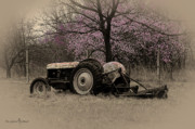 Jill Westbrook - Old Tractor and Redbuds...