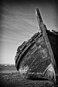 Beached Photos - Old traditional Tagus River sailboat by Jose Elias - Sofia Pereira
