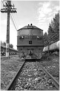 Boiler Photo Originals - Old train by Apichart Meesri