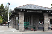 Train Stations Photos - Old Train Depot At Historic Railroad Square Santa Rosa California 5D25877 by Wingsdomain Art and Photography