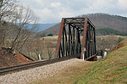 Old Train Trestle Print by Brenda Dorman