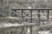 Hansen Framed Prints - Old Train Trestle Framed Print by Scott Hansen