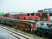 Railroad Metal Prints - Old Train Yard Metal Print by Susan Savad