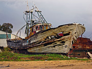 Rotting Photos - Old trawler by Lusoimages  