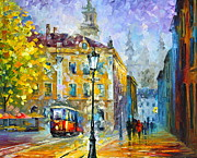 Trolley Paintings - Old Trolley by Leonid Afremov