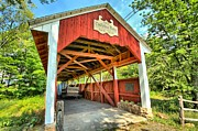 Covered Bridge Prints - Old Trostle Town Bridge Print by Adam Jewell