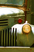 Grill Digital Art Metal Prints - Old Truck Abstract Metal Print by Ben and Raisa Gertsberg
