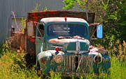 Old Country Roads Posters - Old Truck in a Beautiful Setting Poster by John Malone