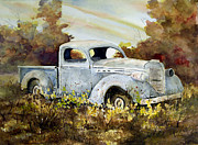 Vehicle Painting Prints - Old Truck Print by Sam Sidders