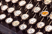 Typewriter Keys Photos - Old typewriter keys by Les Palenik